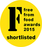 Three of my gluten free, dairy free cakes have been shortlisted for the Free From Food Awards 2015! Click here to find out more