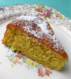 Moist Tunisian Orange & Almond Cake. Made with organic ground almonds, oranges and extra-virgin olive oil. Made with 100% gluten-free and dairy-free ingredients