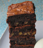 All my Brownies are made with the finest gluten-free ingredients, including Fairtrade dark chocolate and unrefined cane sugar. All ingredients certified organic, apart from a pinch of sea salt. Three recipes to choose from, including dairy-free brownies