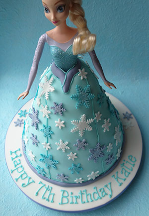 Gluten Free Elsa Princess Cake Layers Of Glutenfree Eggfree Chocolate Sponge Filled With