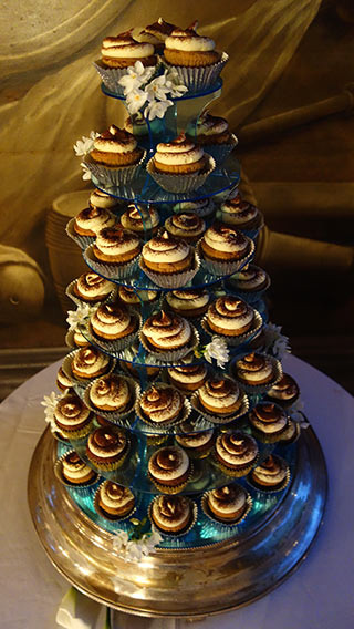 Gluten free Tiramisu Cupcakes for a winter wedding at the Painted Hall, Royal Naval College, Greenwich