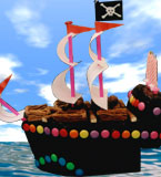 Gluten-free Pirate Ship Childrens Birthday cake. Delivery in London