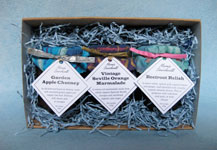 3-jar boxed set of preserves: various combinations available. Does not include Boozy Prunes