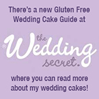 Click here to read more about my wedding cakes in the Wedding Secret's new Gluten Free Wedding Cake Guide